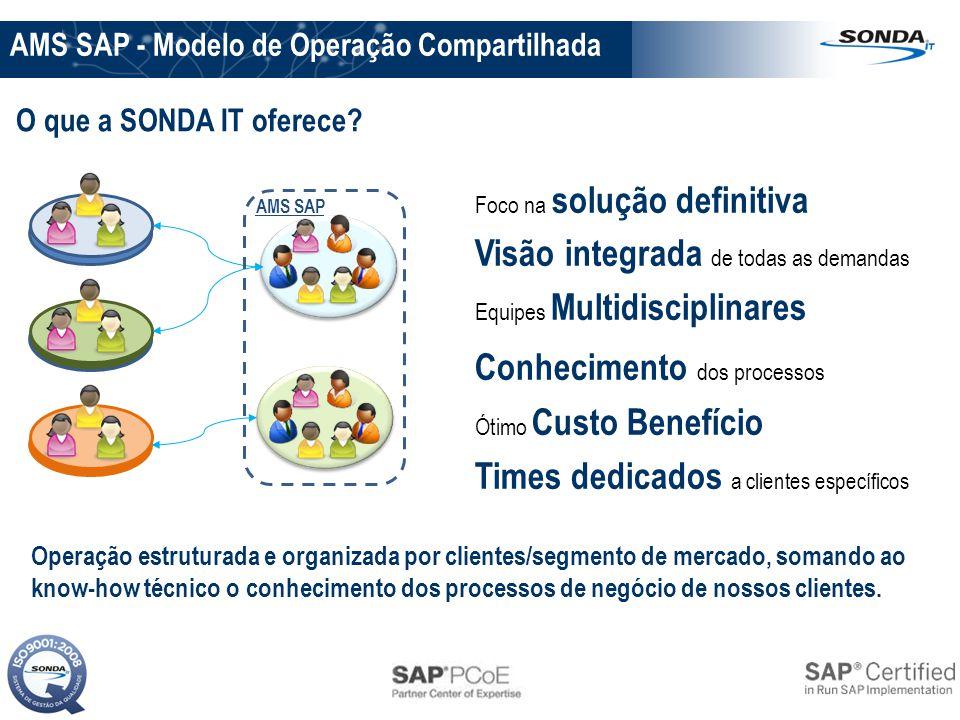 Visão integrada de todas as demandas Conhecimento dos processos