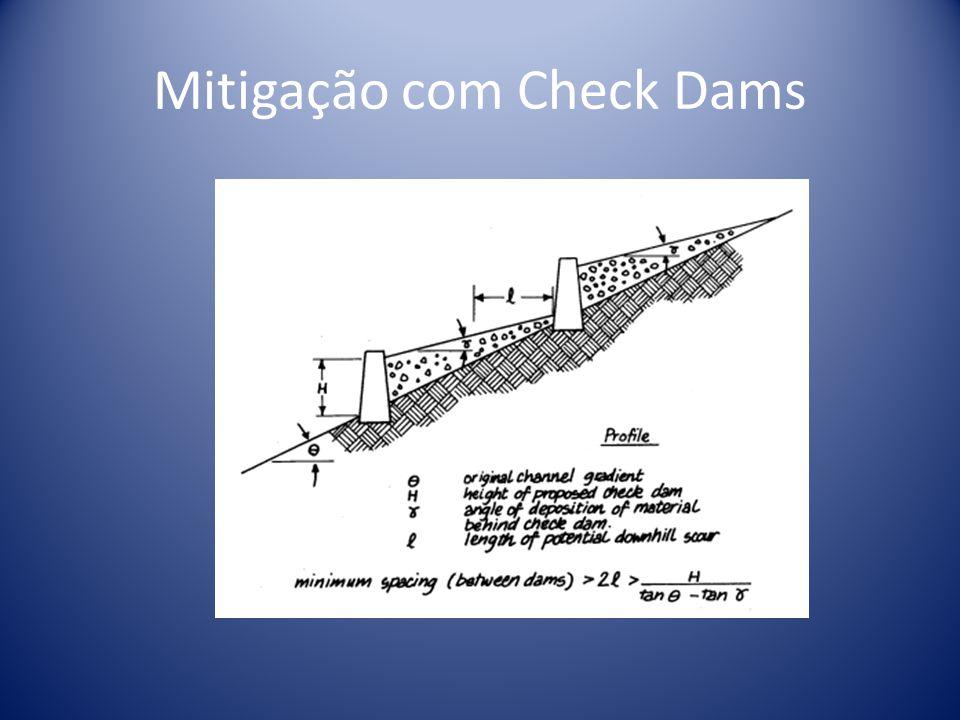 Mitigação com Check Dams