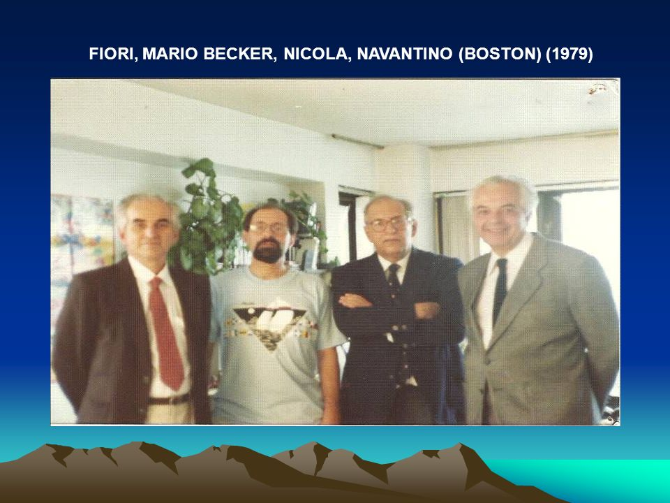 FIORI, MARIO BECKER, NICOLA, NAVANTINO (BOSTON) (1979)