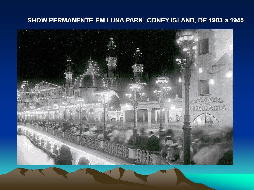 SHOW PERMANENTE EM LUNA PARK, CONEY ISLAND, DE 1903 a 1945