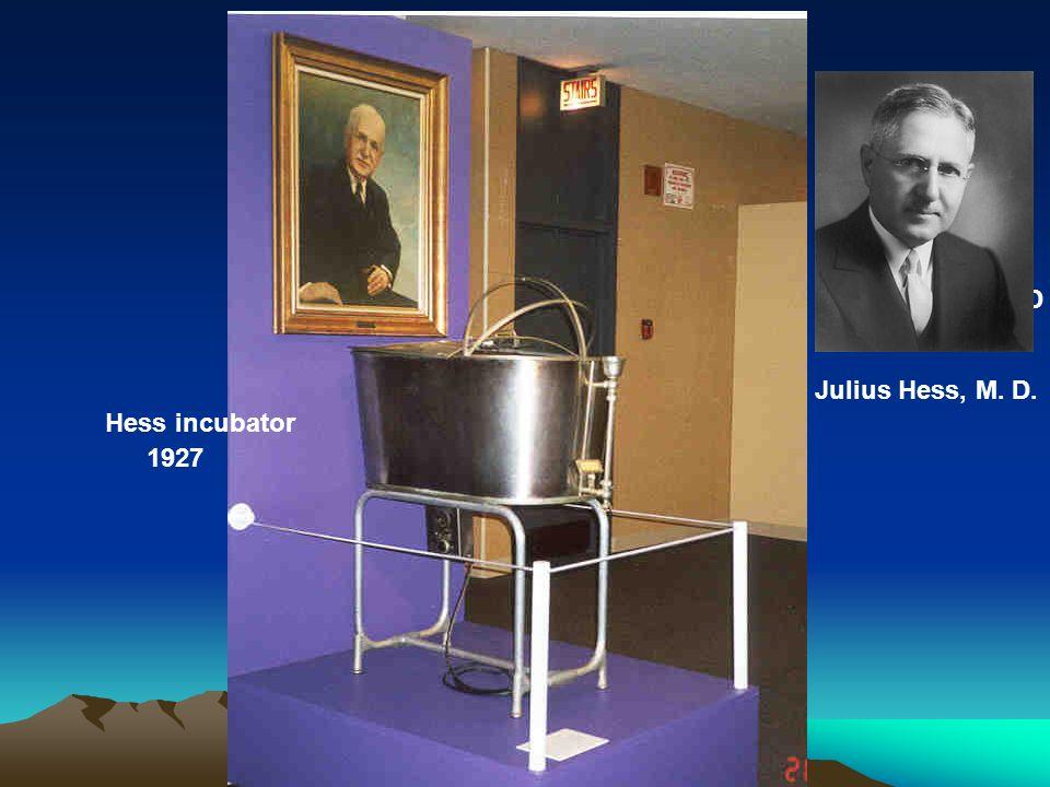 1927 Julius Hess, M. D. Julius Hess, M. D Hess incubator