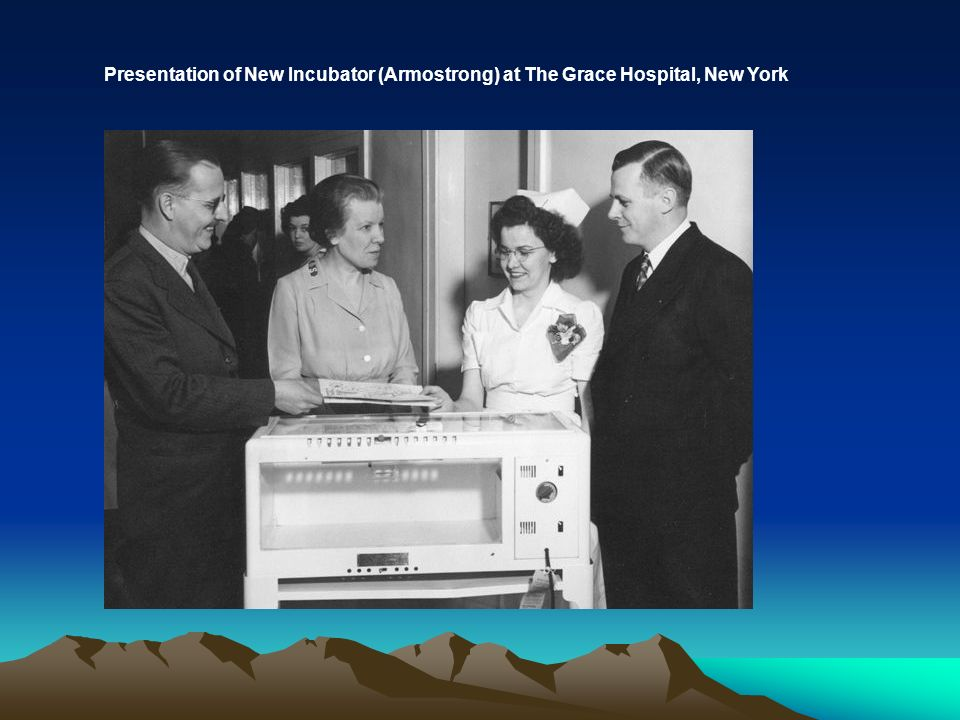 Presentation of New Incubator (Armostrong) at The Grace Hospital, New York