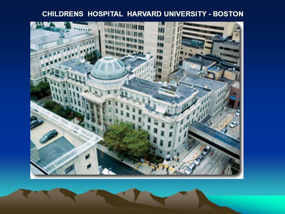 CHILDRENS HOSPITAL HARVARD UNIVERSITY - BOSTON