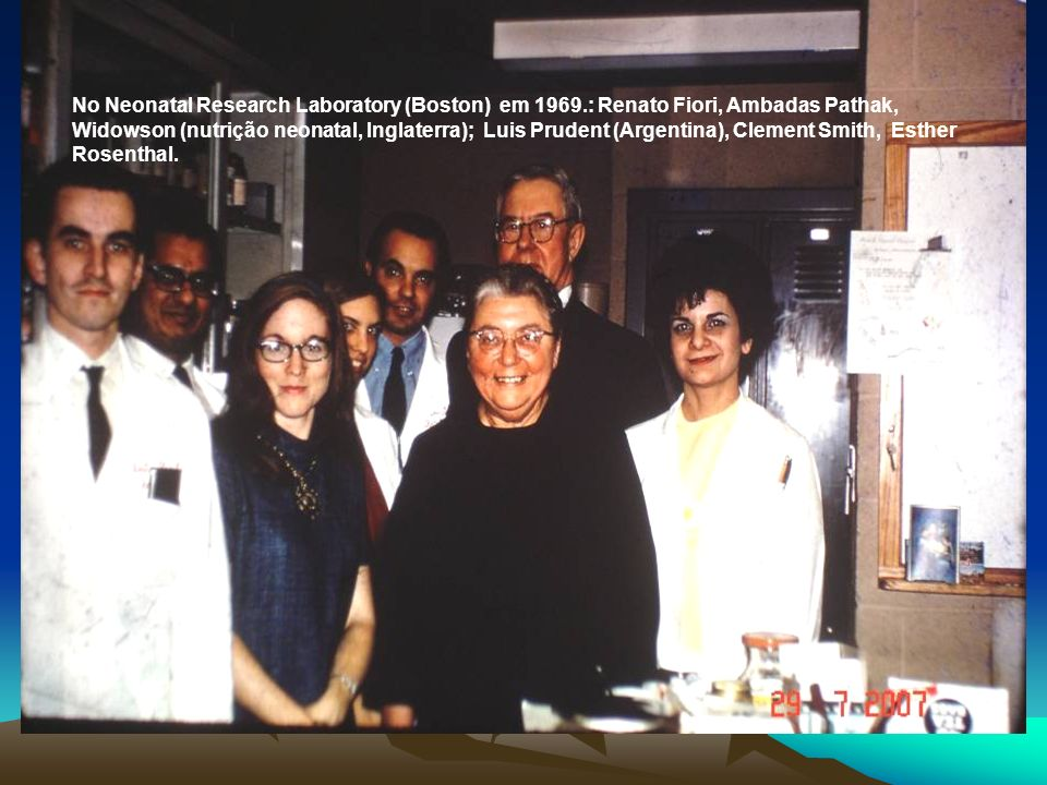 No Neonatal Research Laboratory (Boston) em 1969