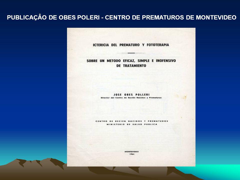 PUBLICAÇÂO DE OBES POLERI - CENTRO DE PREMATUROS DE MONTEVIDEO