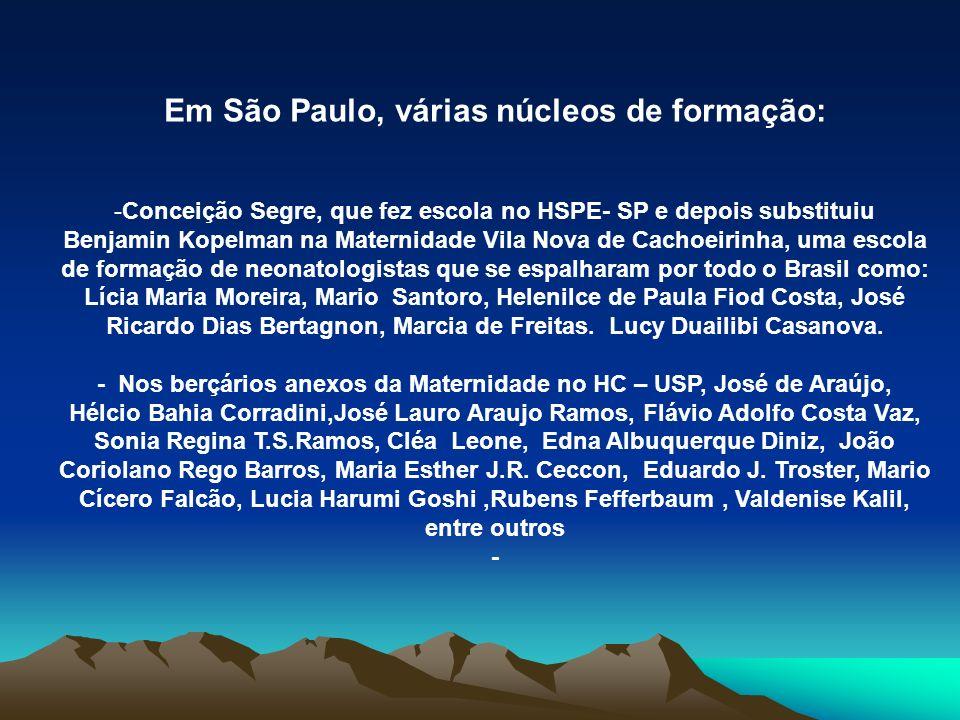 Em São Paulo, várias núcleos de formação: