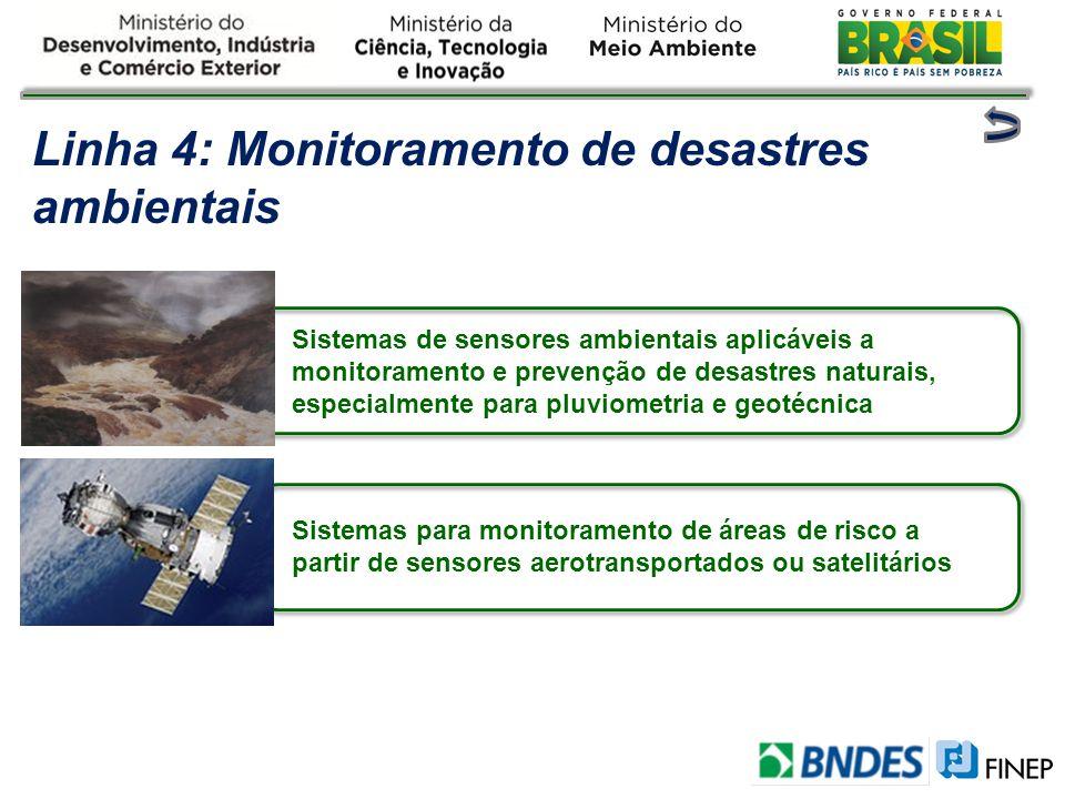 Linha 4: Monitoramento de desastres ambientais