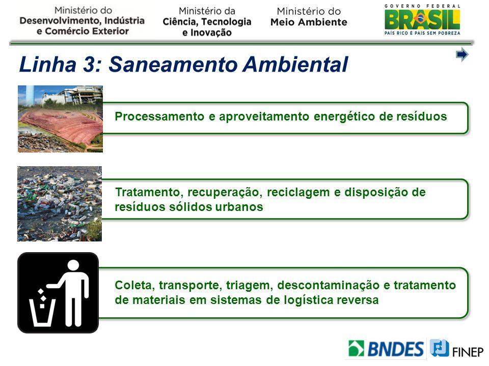 Linha 3: Saneamento Ambiental
