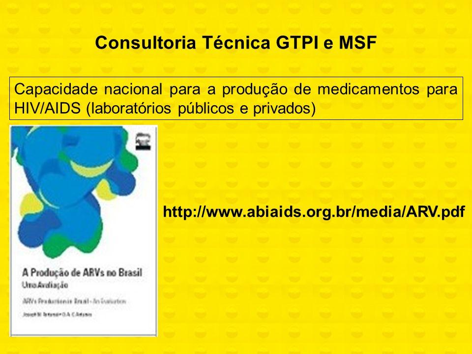 Consultoria Técnica GTPI e MSF