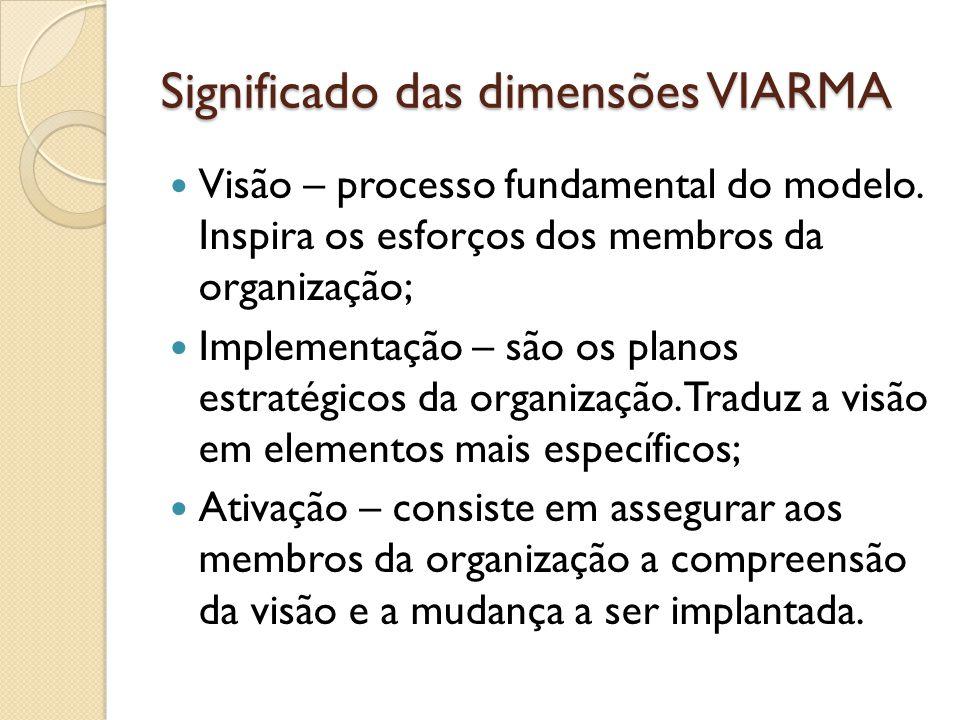 Significado das dimensões VIARMA