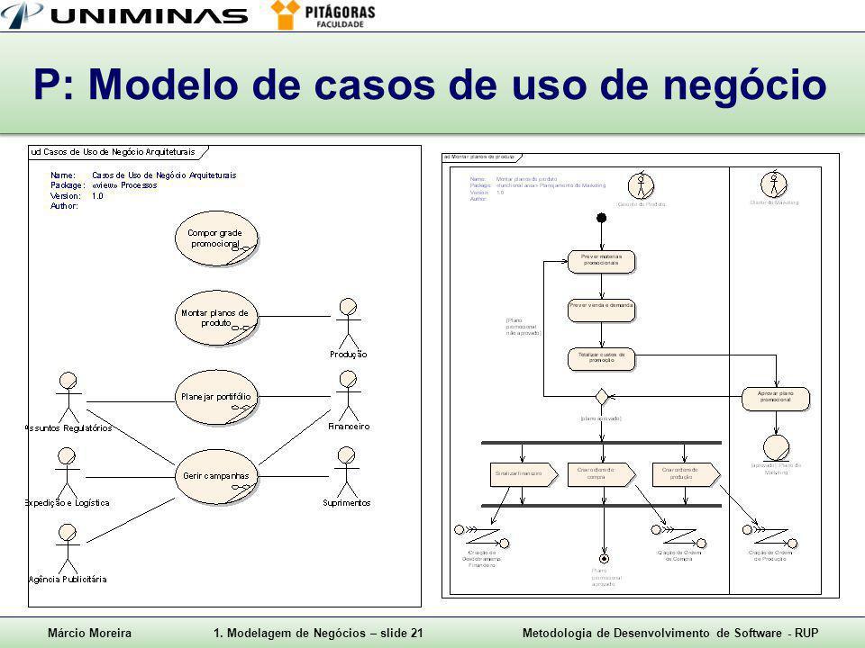 P: Modelo de casos de uso de negócio