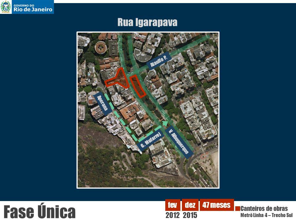 Fase Única Rua Igarapava 2012 fev dez 2015 47 meses Canteiros de obras
