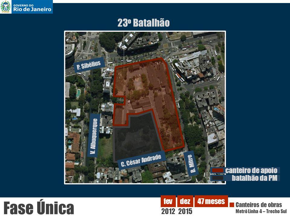 Fase Única 23o Batalhão canteiro de apoio batalhão da PM 2012 fev dez