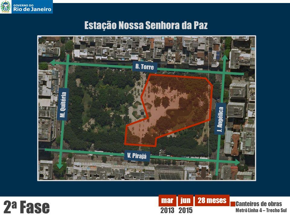 2a Fase Estação Nossa Senhora da Paz 2013 mar jun 2015 28 meses