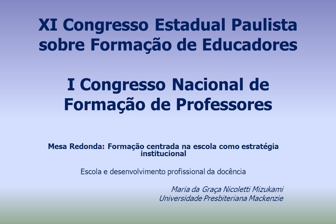 Escola e desenvolvimento profissional da docência