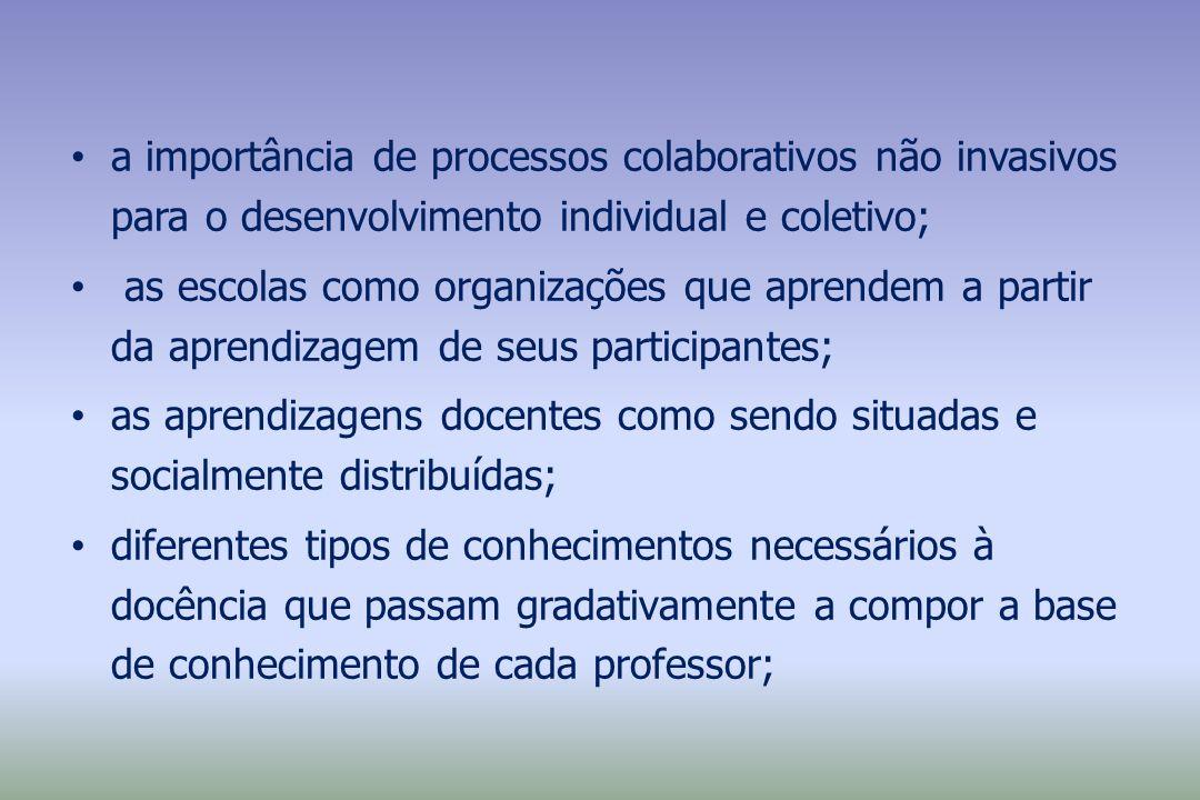 a importância de processos colaborativos não invasivos para o desenvolvimento individual e coletivo;