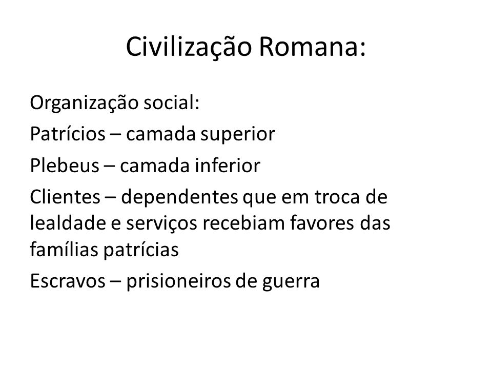 Civilização Romana: