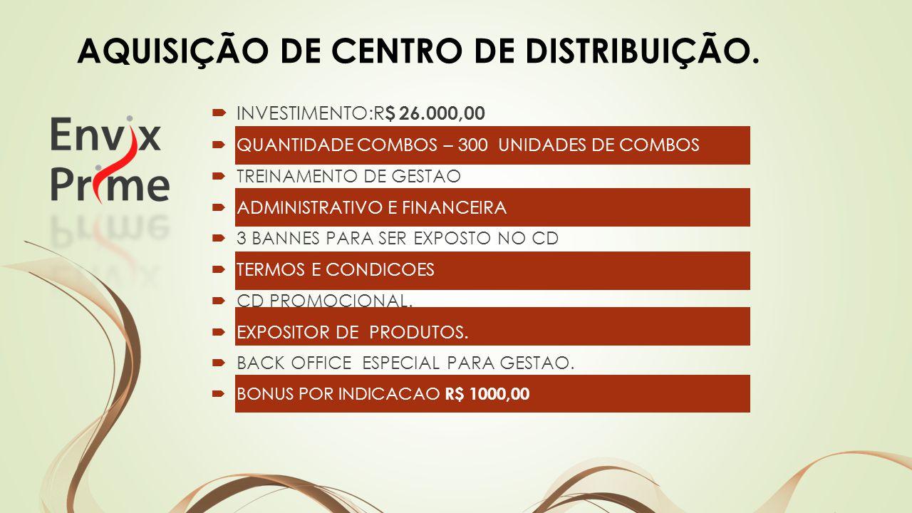 AQUISIÇÃO DE CENTRO DE DISTRIBUIÇÃO.