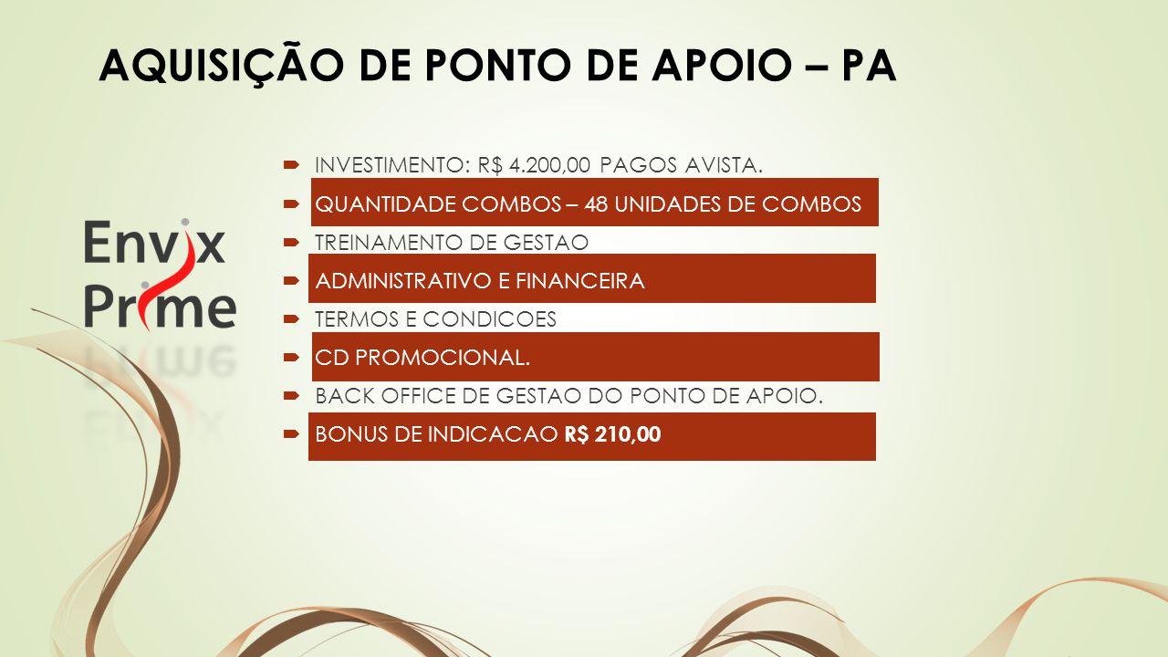 AQUISIÇÃO DE PONTO DE APOIO – PA