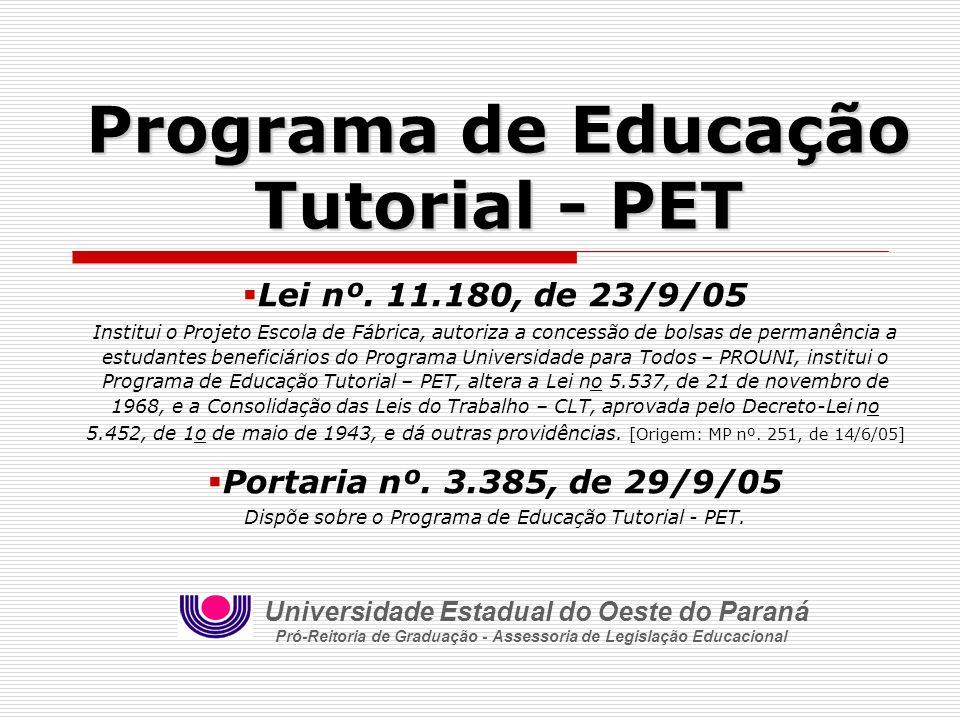 Programa de Educação Tutorial - PET