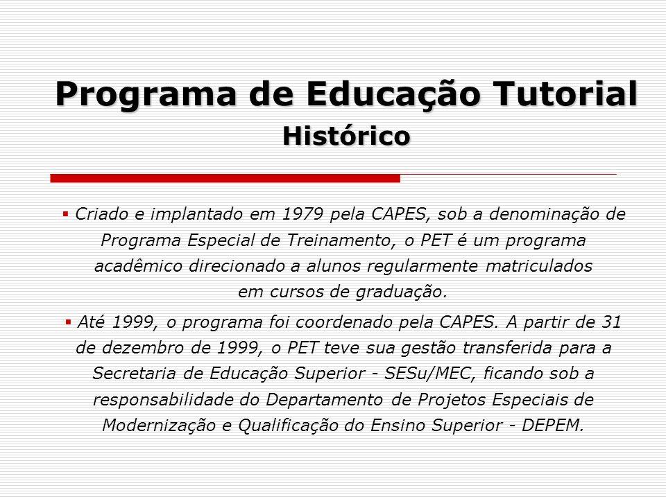 Programa de Educação Tutorial Histórico