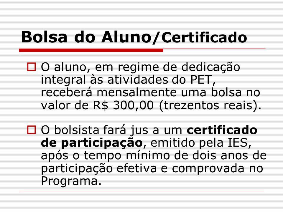 Bolsa do Aluno/Certificado