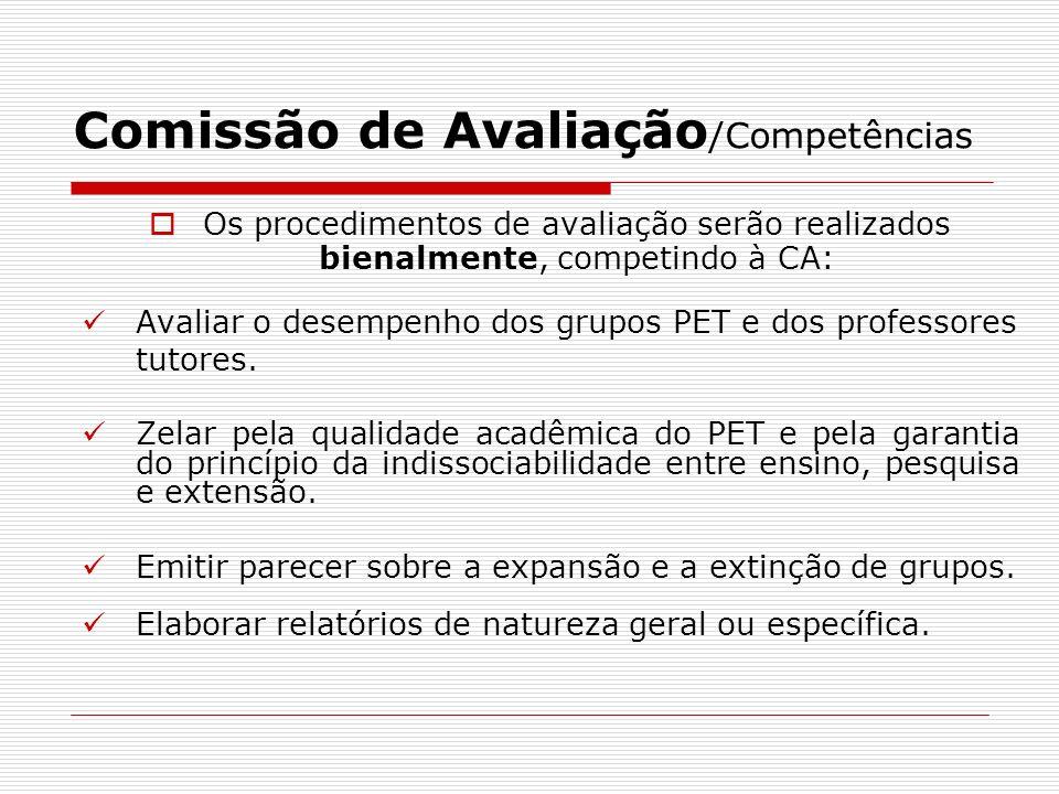 Comissão de Avaliação/Competências