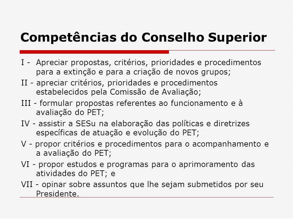 Competências do Conselho Superior