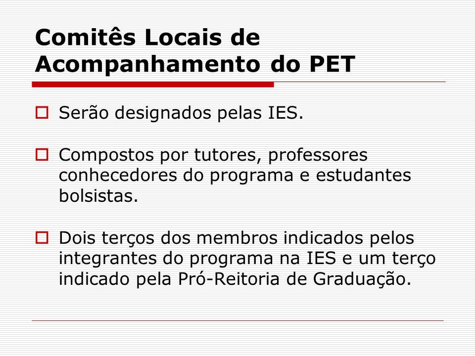 Comitês Locais de Acompanhamento do PET