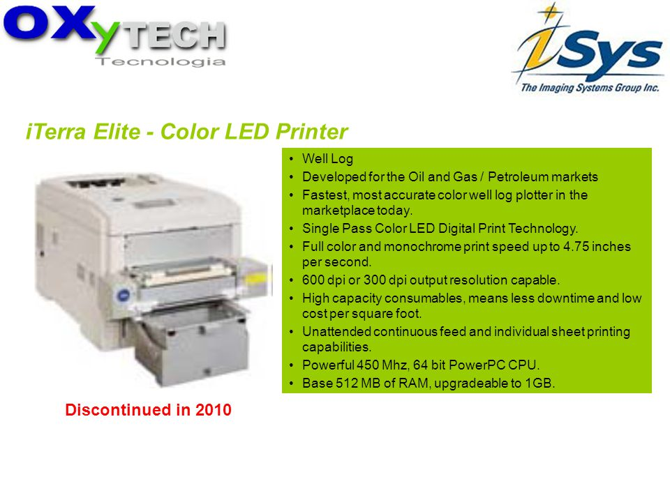 iTerra Elite - Color LED Printer