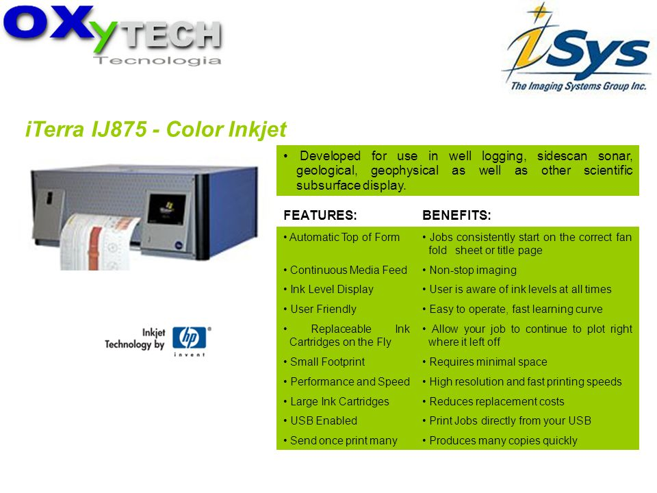 iTerra IJ875 - Color Inkjet