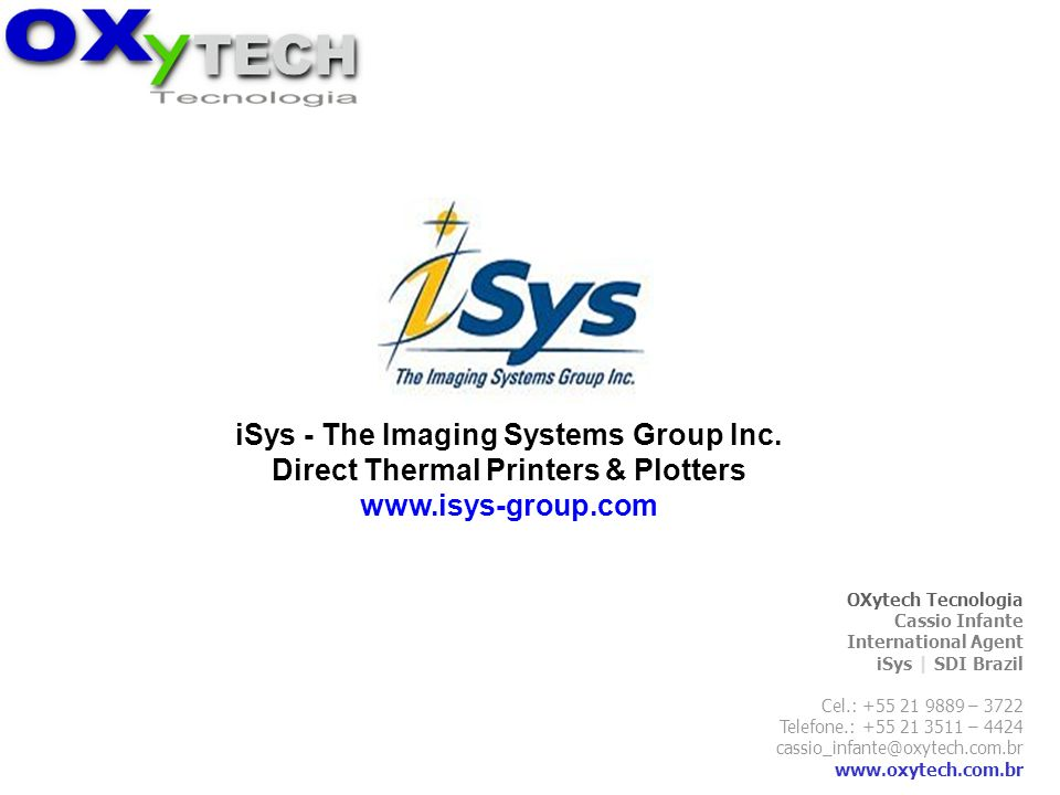 iSys - The Imaging Systems Group Inc.