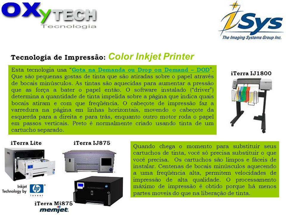 Tecnologia de Impressão: Color Inkjet Printer