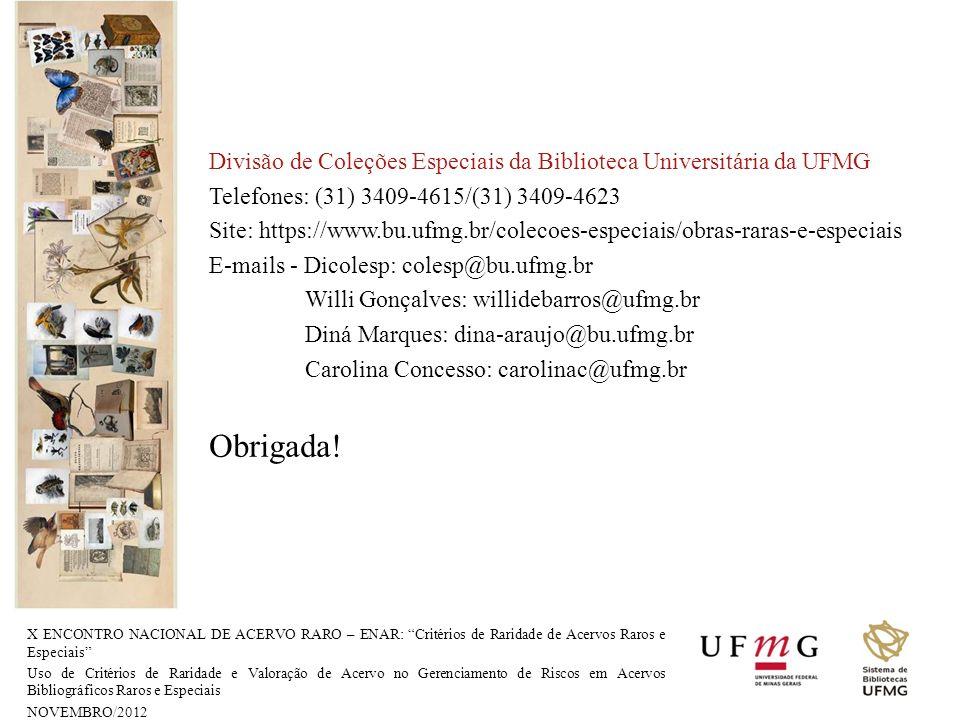 Divisão de Coleções Especiais da Biblioteca Universitária da UFMG