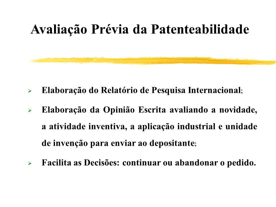 Avaliação Prévia da Patenteabilidade