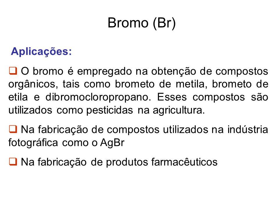 Bromo (Br) Aplicações: