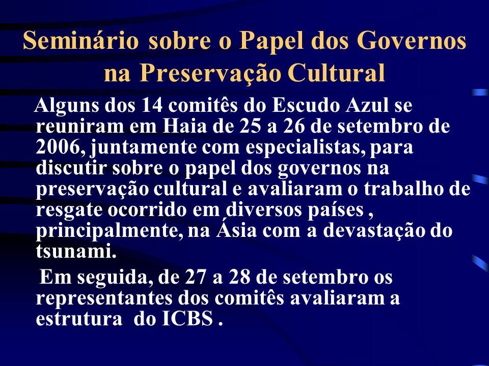 Seminário sobre o Papel dos Governos na Preservação Cultural