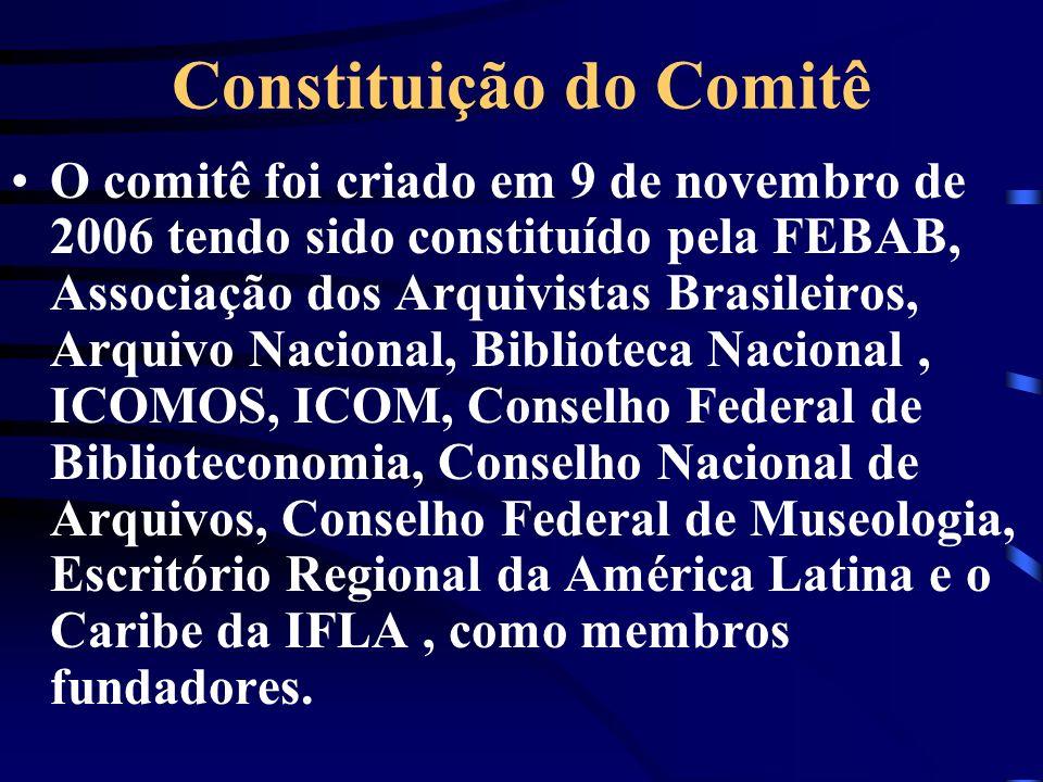 Constituição do Comitê