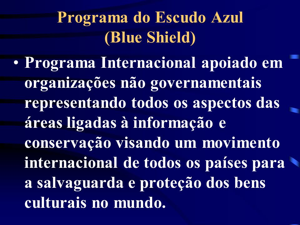 Programa do Escudo Azul (Blue Shield)
