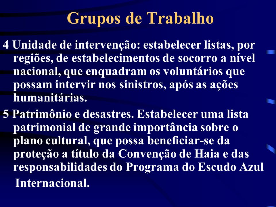 Grupos de Trabalho