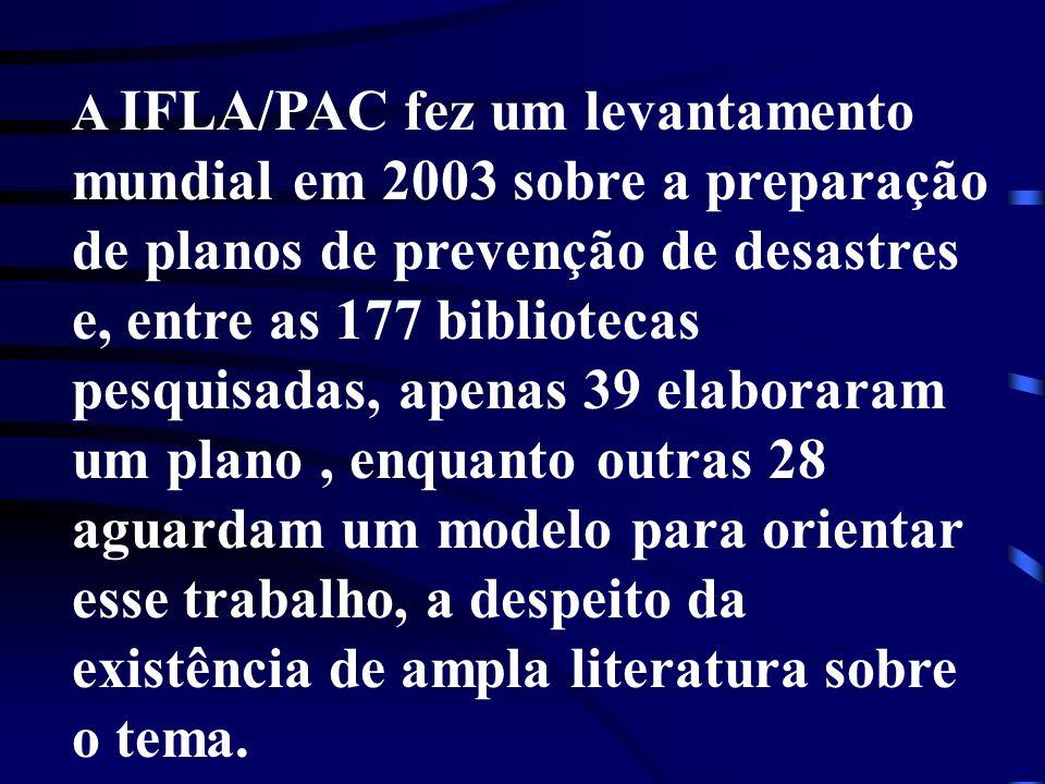 mundial em 2003 sobre a preparação