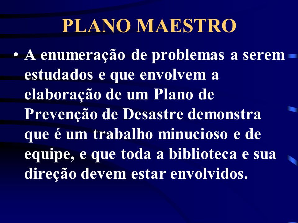 PLANO MAESTRO