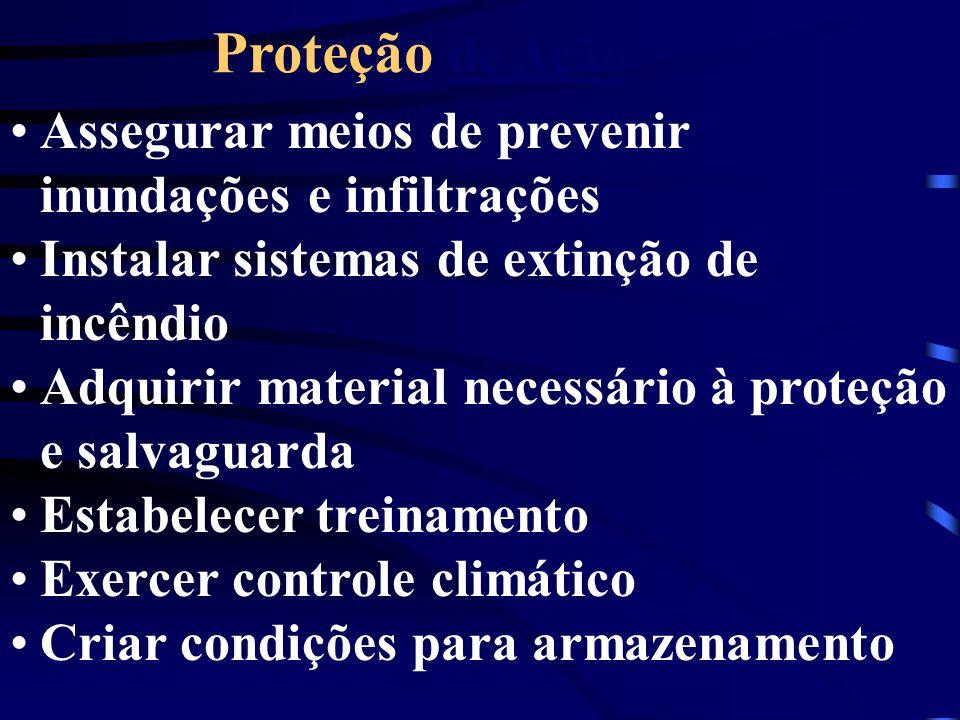 Assegurar meios de prevenir inundações e infiltrações