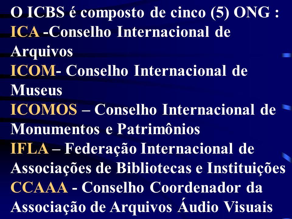 O ICBS é composto de cinco (5) ONG :