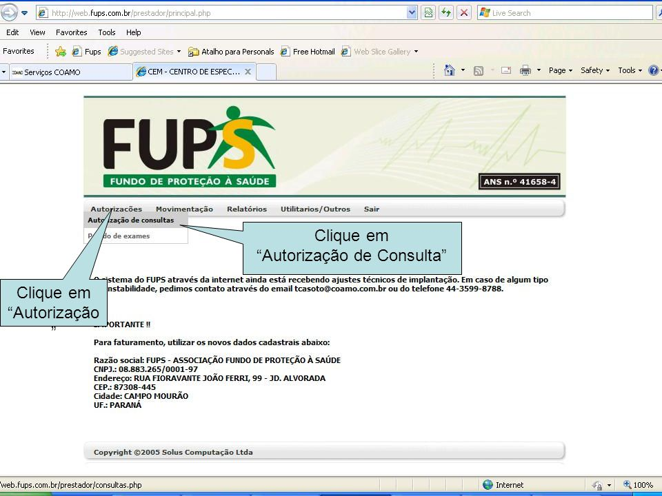 Autorização de Consulta