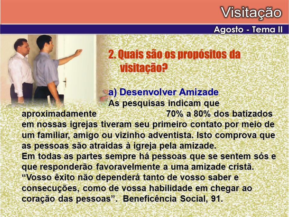 2. Quais são os propósitos da visitação