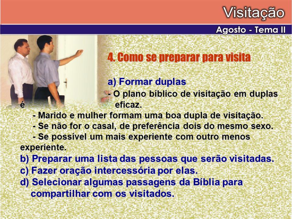 4. Como se preparar para visita