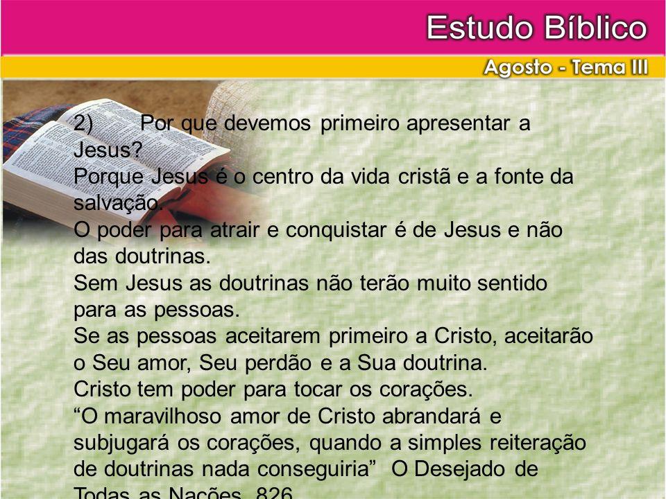 2) Por que devemos primeiro apresentar a Jesus
