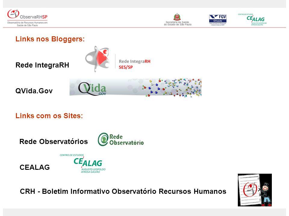 Links nos Bloggers: Rede IntegraRH. QVida.Gov. Links com os Sites: Rede Observatórios. CEALAG.