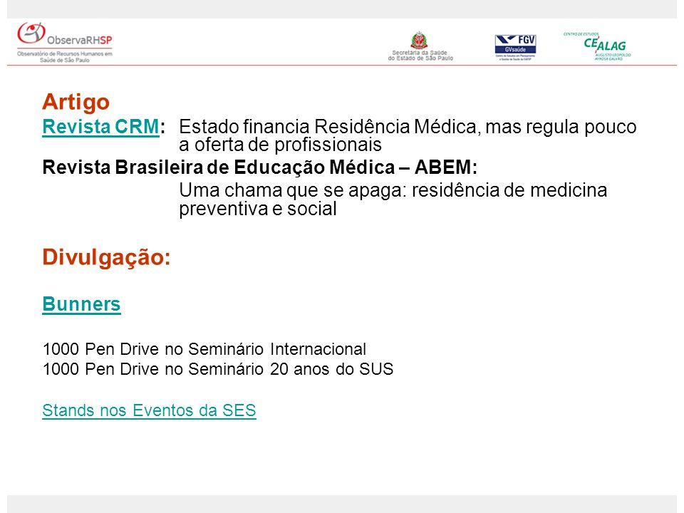 Artigo Revista CRM: Estado financia Residência Médica, mas regula pouco a oferta de profissionais.